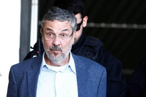O ex-ministro Antonio Palocci ao ser preso na Operação Lava Jato
