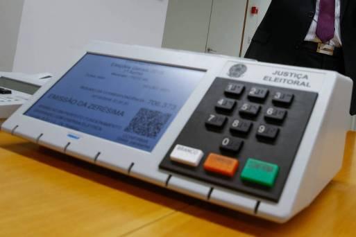 Urna eletrônica na sede do TSE (Tribunal Superior Eleitoral), em Brasíia
