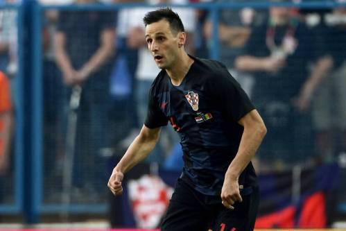 Nikola Kalinic disputa amistoso entre Croácia e Senegal antes da Copa do Mundo