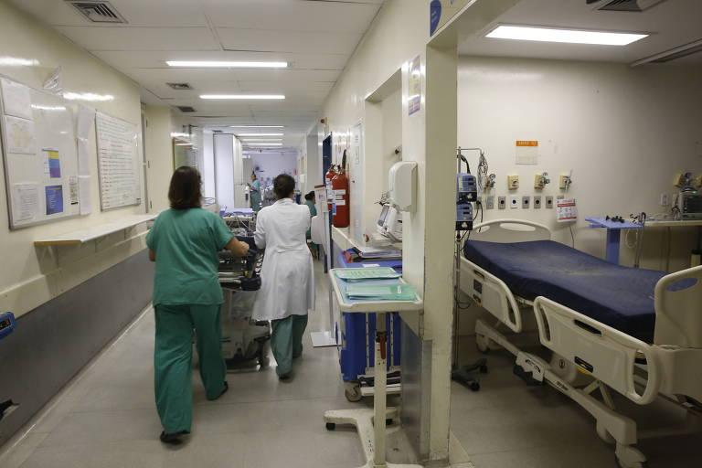 Corredor da UTI (Unidade de terapia intensiva) da Santa Casa de São Paulo