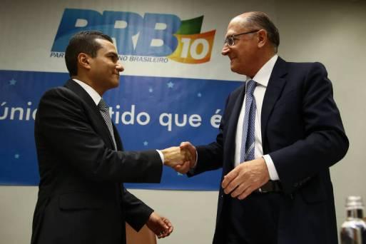 Convenção Nacional do PRB confirma o apoio à candidatura de Geraldo Alckmin (PSDB) à Presidência da República. Alckmin e o presidente do PRB, Marcos Pereira