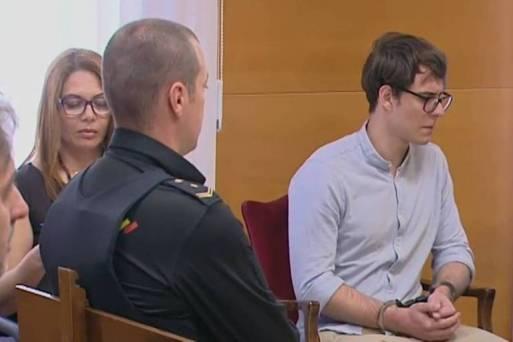 Patrick Nogueira Gouveia no primeiro dia do julgamento