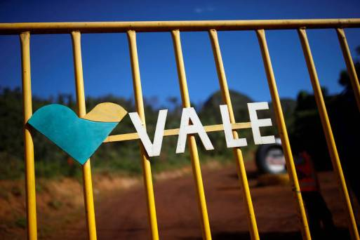 Logo da mineradora Vale em Brumadinho, Minas Gerais