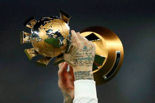 Troféu levantado pelo Real Madrid ao vencer o Mundial de Clubes de 2018.