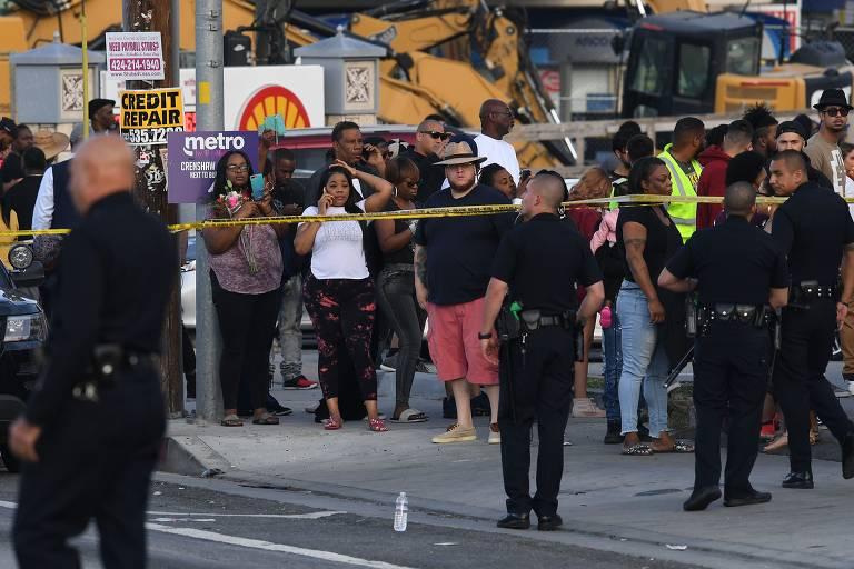 15540900165ca18820141aa 1554090016 3x2 md - Rapper Nipsey Hussle, indicado ao Grammy, é morto a tiros