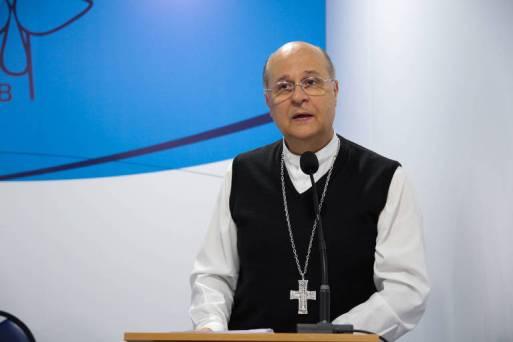 Dom Darci Nicioli, arcebispo de Diamantina (MG), durante o primeiro dia da assembleia da CNBB (Conferência Nacional dos Bispos do Brasil), em Aparecida (SP)