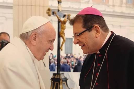 O papa Francisco e dom Vilson de Oliveira, em foto sem data