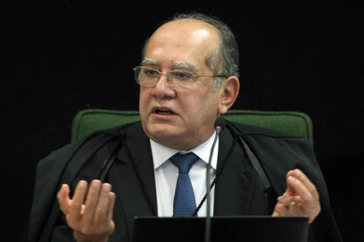 O ministro Gilmar Mendes, em sessão no STF