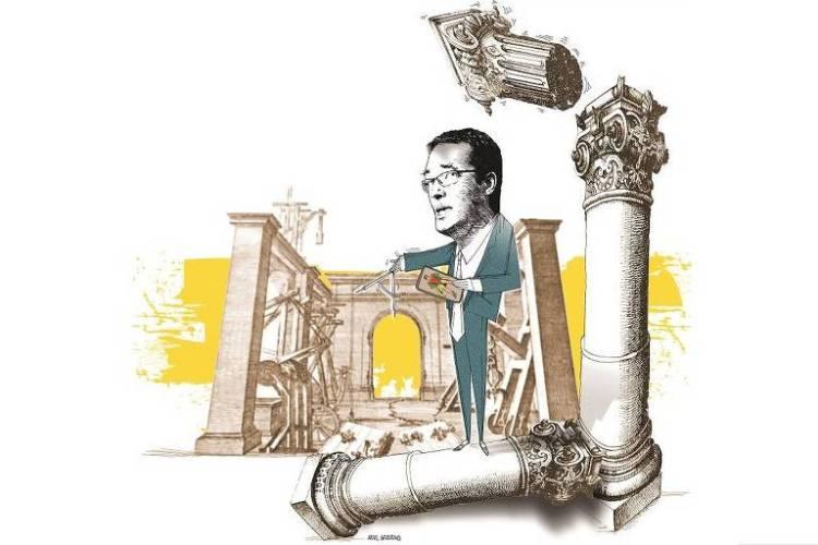 Ilustração em matéria sobre Deltan Dallagnol