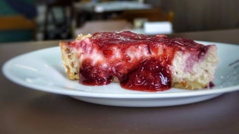 O Veggie Café serve cheesecake à base de tofu