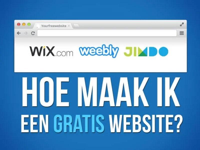Gratis Website Maken of Webshop 100 Gratis