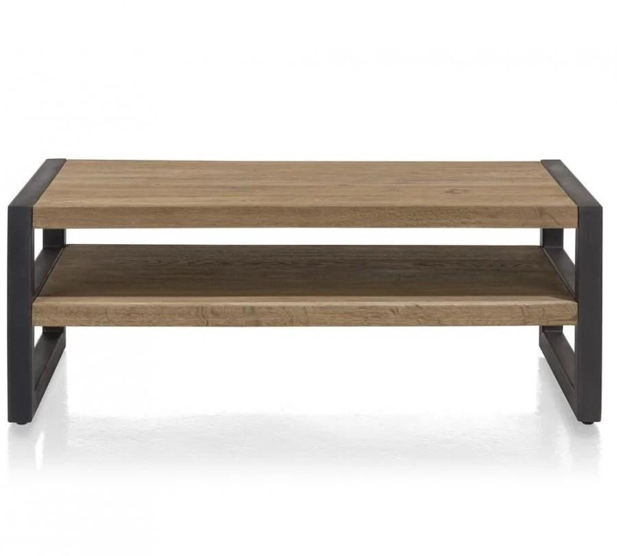 Industrile salontafel met stalen frame  Houtenmeubelshopnl