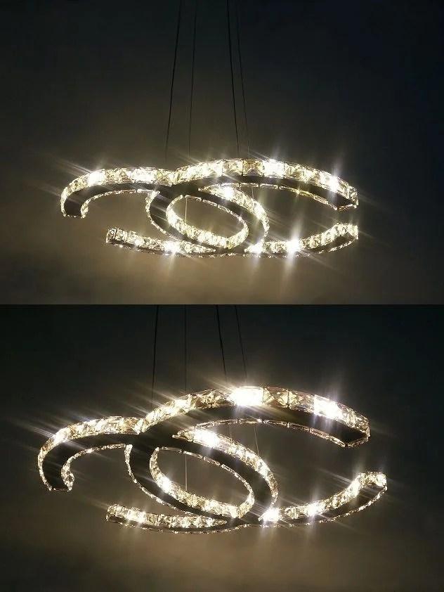 Design Kristal Plafonniere PCC  rond 50 cm Chanel