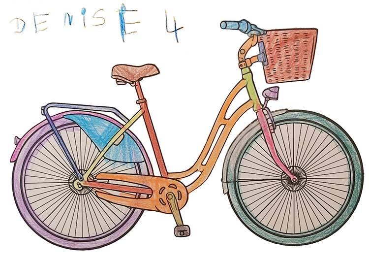 Fahrrad Malvorlage kostenlos » Fahrräder Ausmalbilder