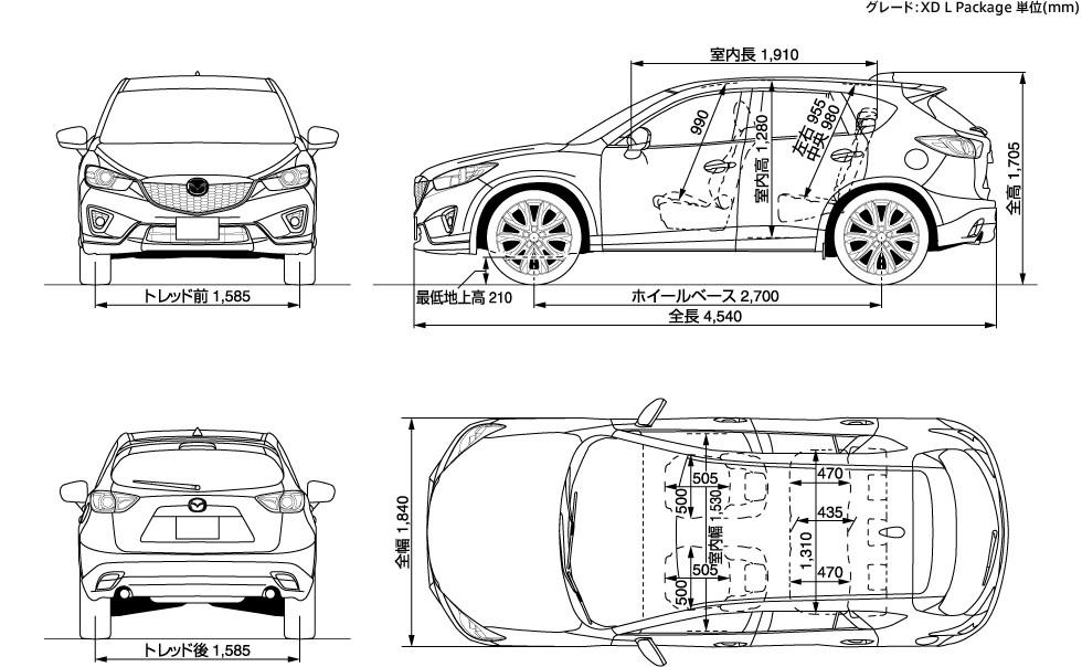 Dimension Mazda Cx 3