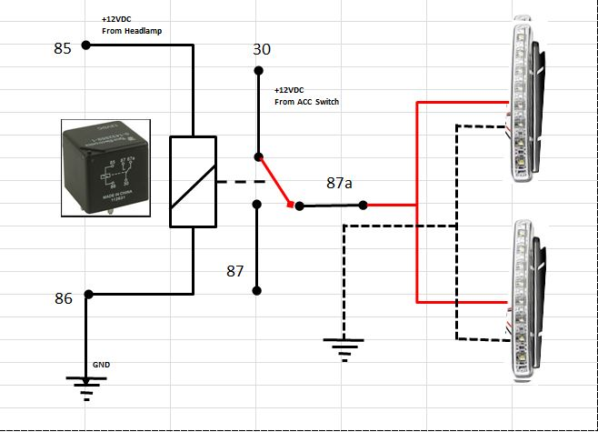 Headlight Wiring Diagram On Hella Driving Light Relay Aux
