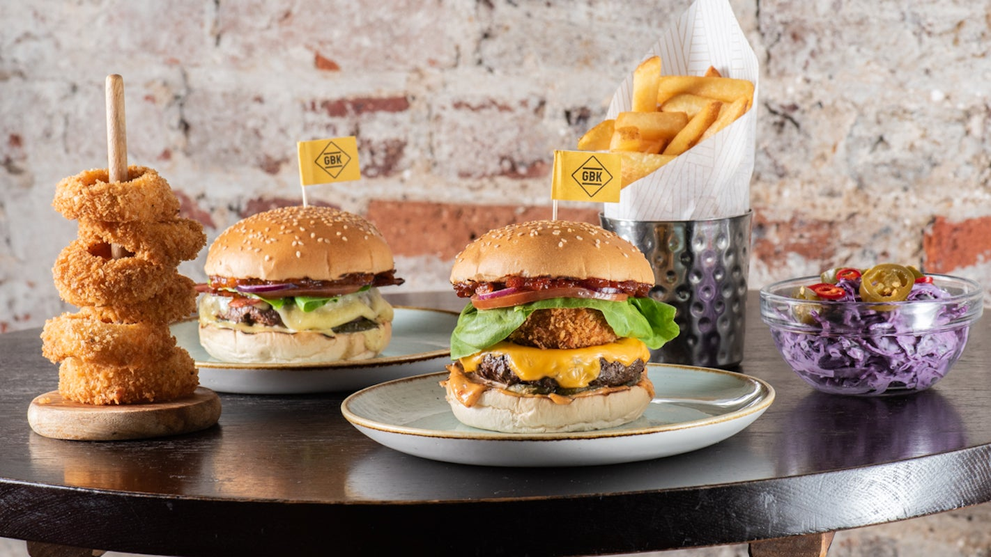 Gourmet Burger Kitchen GBK delivery from Spitalfields