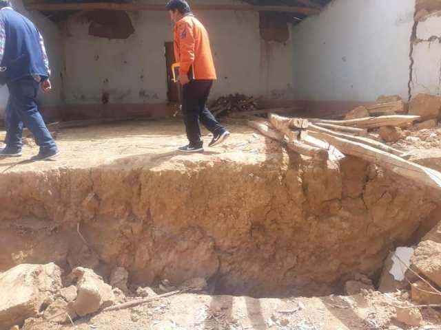 La falla geológica compromete a más de medio centenar de viviendas y la infraestructura del puesto de salud del distrito de Sillapata.