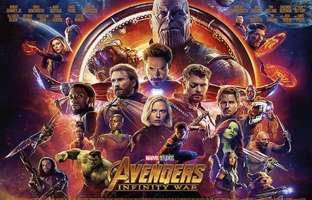 20. AVENGERS: INFINITY WAR.La cinta estrenada en abril de 2018 presenta la primera batalla de Los Vengadores contra Thanos. El villano consigue todas las Gemas del Infinito y ofrece el mayor genocidio de la historia del Universo. ¿Lograrán vencer a Thanos después de la pérdida de la mitad del universo?