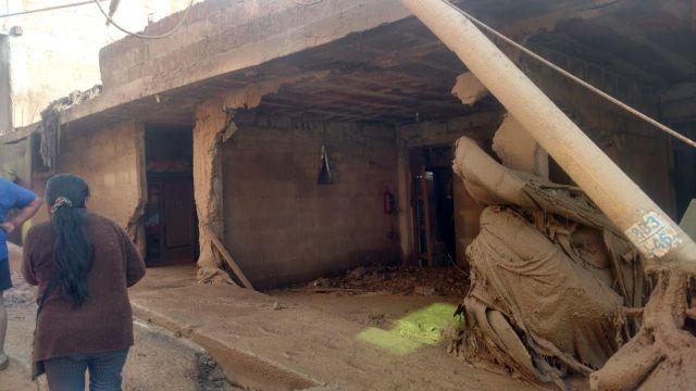El Ministerio de Agricultura informó que hay unas 250 viviendas afectadas por los huaicos.