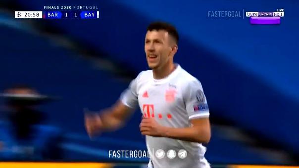 Ivan Perisic marcó el segundo gol de Bayern Munich ante Barcelona