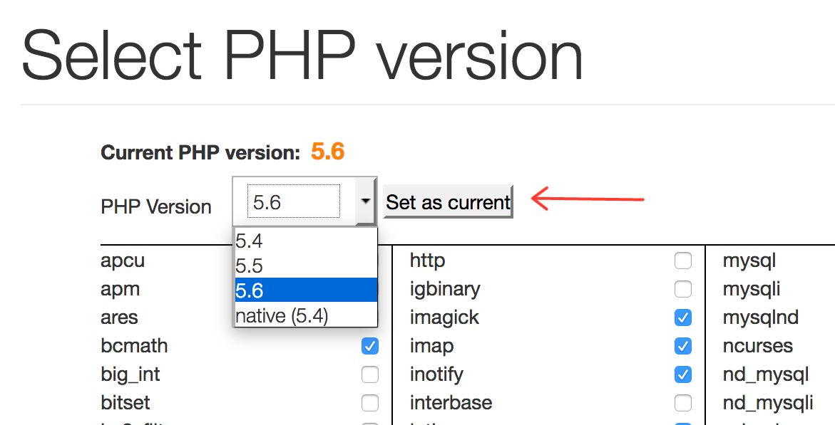 PHP Version Change cPanel