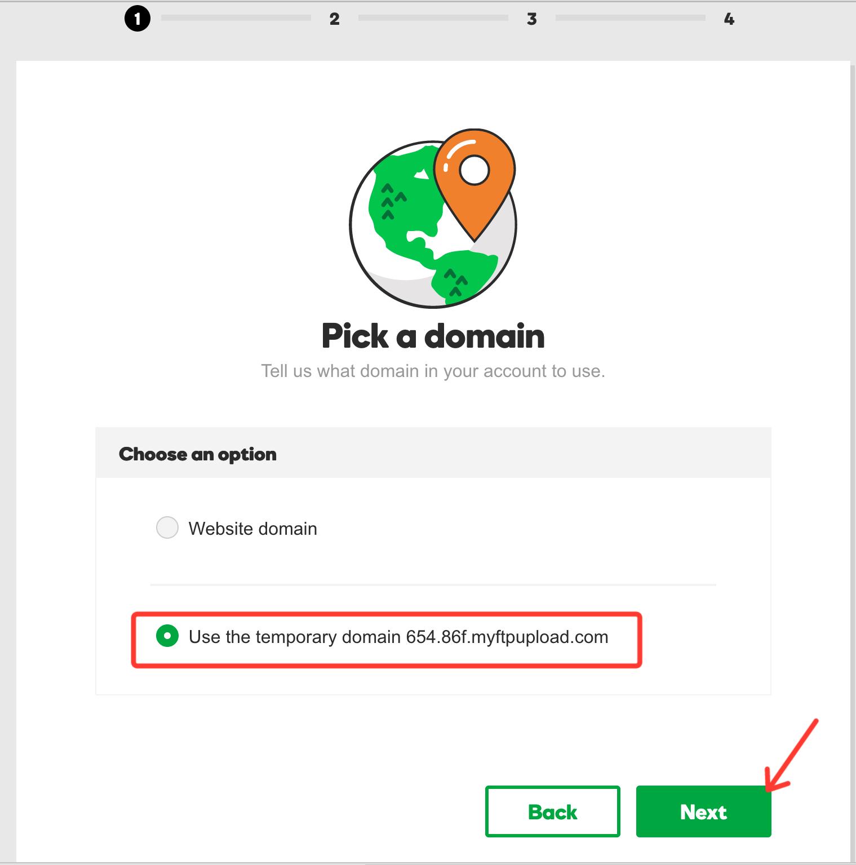 Managed WordPress Hosting Temp Domain