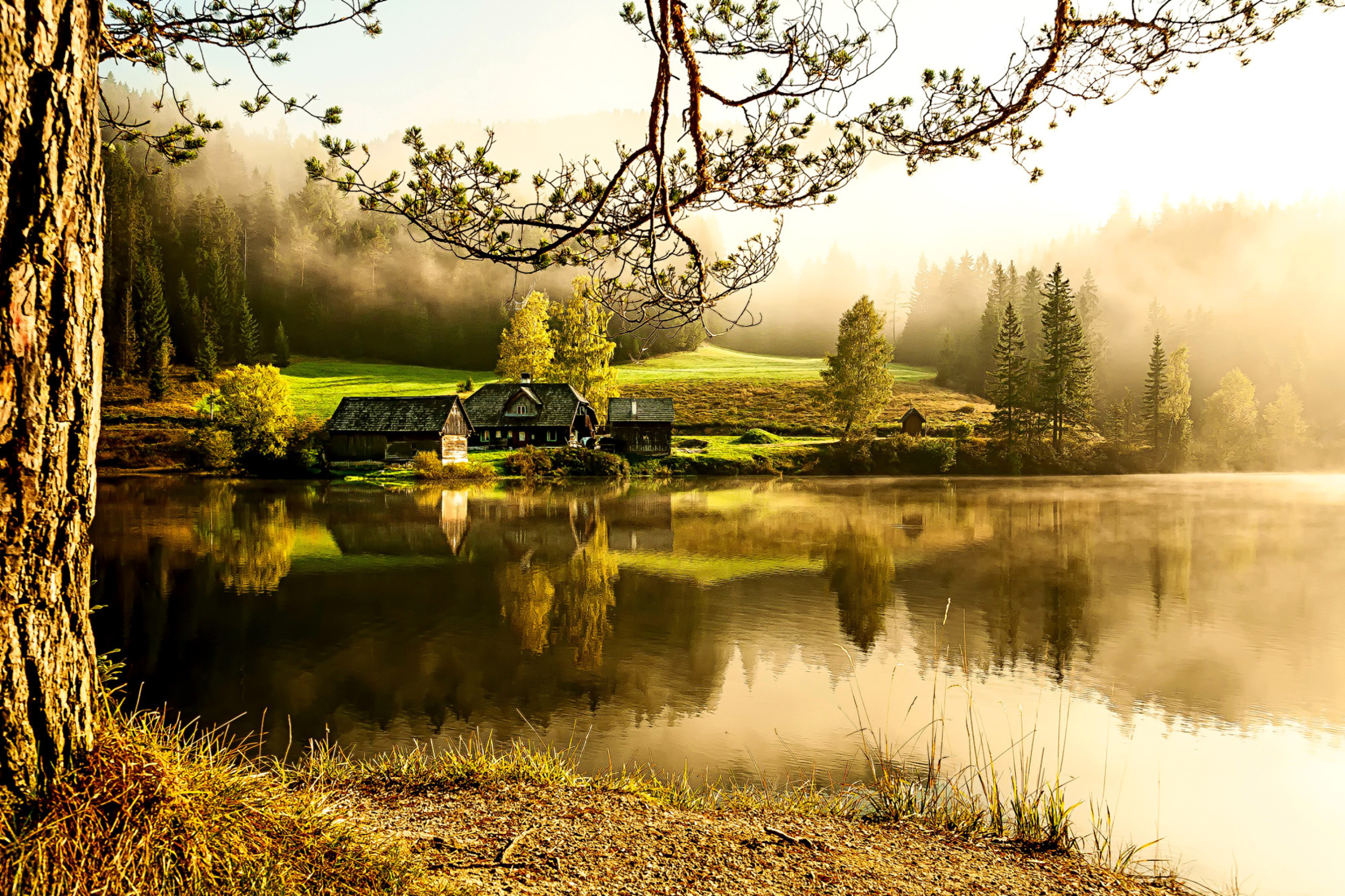 Beautiful Countryside Scenery Wallpaper for 2880x1920