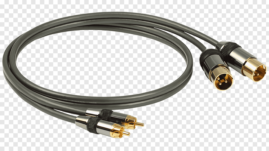 RCA connector XLR connector Electrical cable Speaker wire