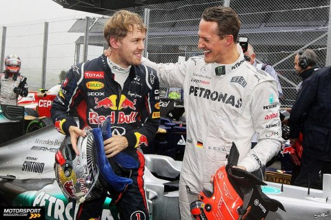 Vettel & Schumacher—Brazil 2012