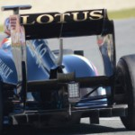 Lotus rear wing 2013