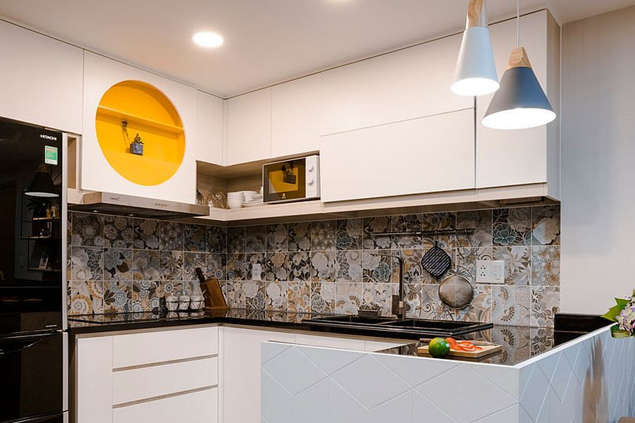 Bahan Kitchen Set Tegel Backsplash