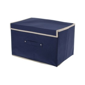 Jual JYSK Storage Box Dark Blue 35187C 2  dekorumacom