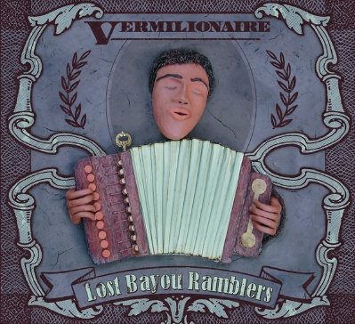 Vermillionaire album cover by Lost Bayou Rambers.  Image of accordionist done in modelling clay, I want to see it animated.