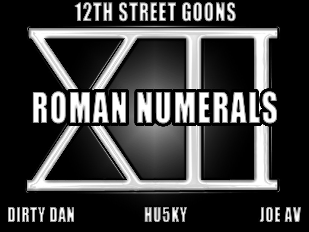 Roman Numerals 1 10