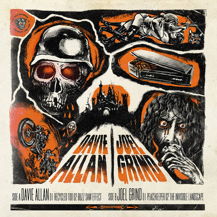 Davie Allan & Joel Grind - Split cover art