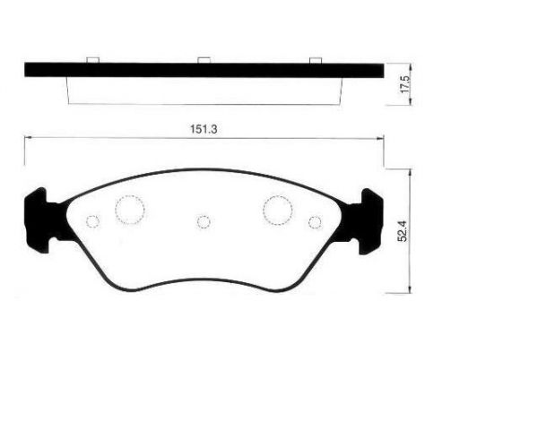 Колодки тормозные задние 0K9A02628Z Kia Spectra (RUS) 05