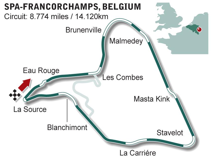 Circuito De Spa Francorchamps : Previa gp de bélgica circuito spa francorchamps