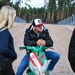 Timo Šeiders apskatot Biķernieku trasi, foto: Edgars Beļakovs