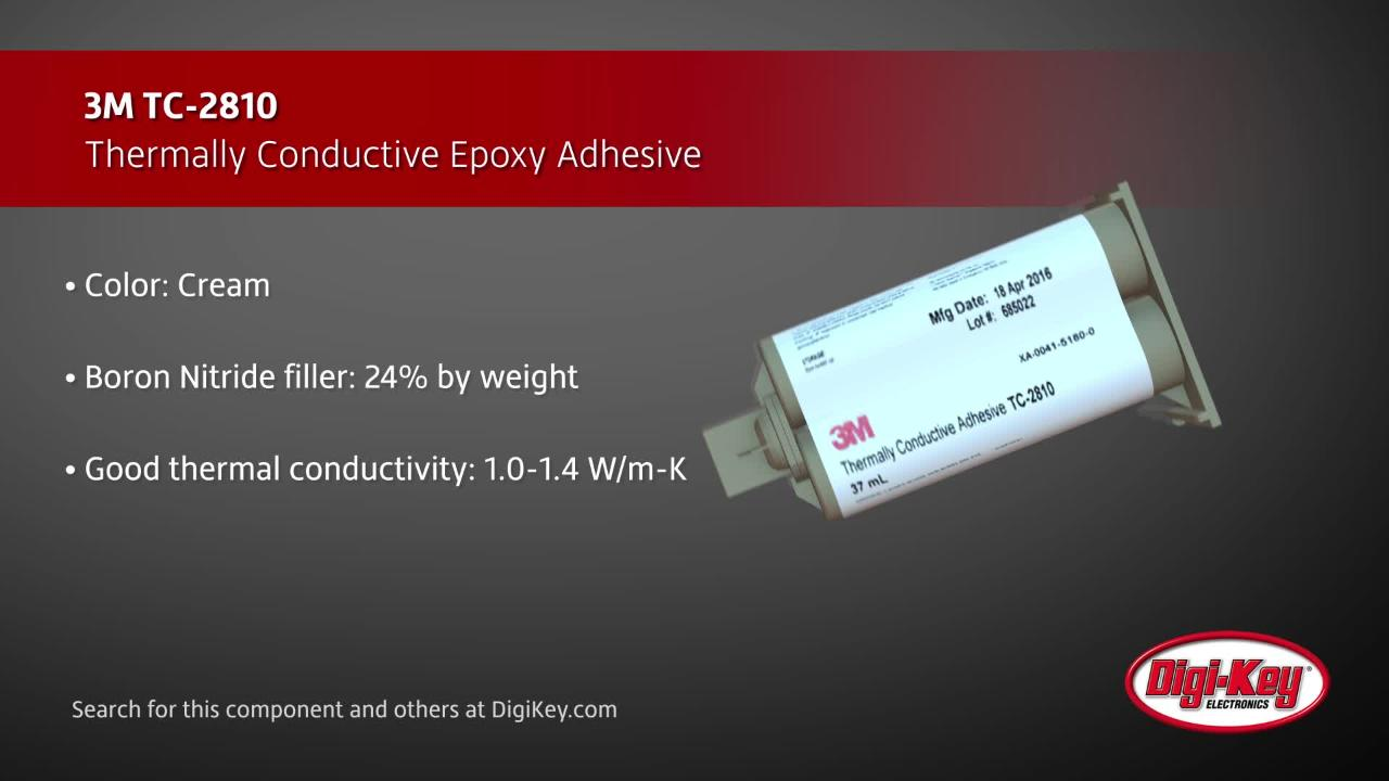 3m thermally conductive adhesive digi key daily [ 1280 x 720 Pixel ]