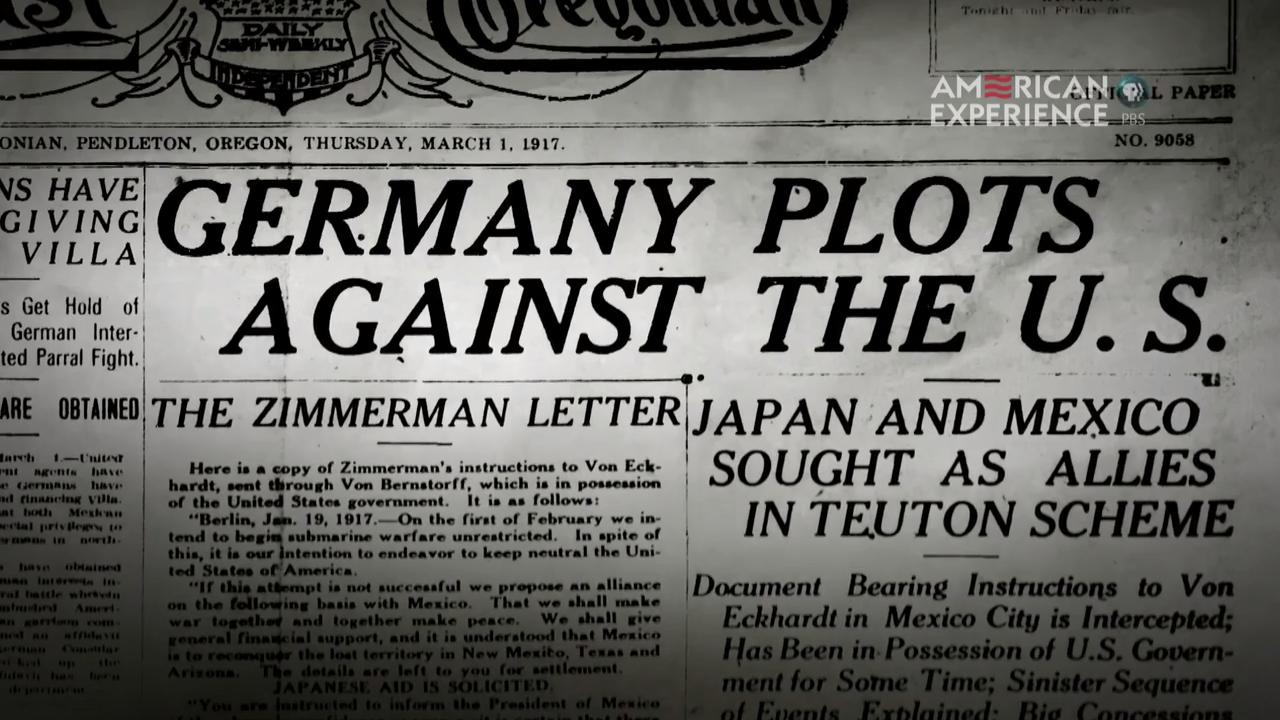 The Zimmerman Telegram  the Road to the Great War  Militarycom