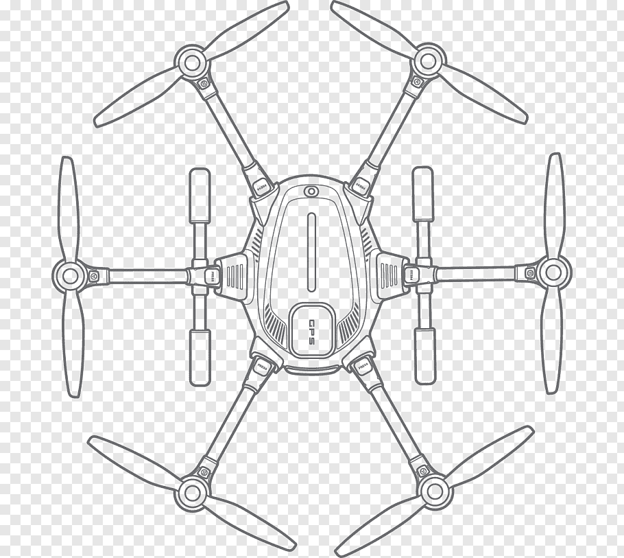 Helicopter, Quadcopter, Unmanned Aerial Vehicle, Diagram