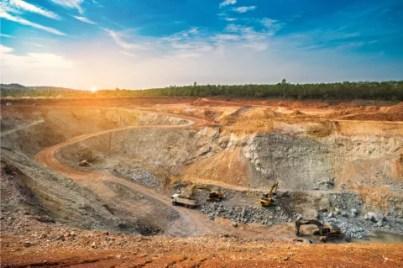 Bergbau Mine Kupfer Silber Gold Thailand