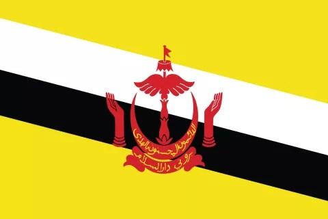 Brunei Daressalam Flagge