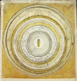 Calendrical volvelle? c1552. The Bodleian Libraries, The University of Oxford, MS Savile 100, f.6r.