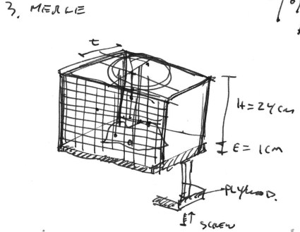 Preliminary sketch of the instrument