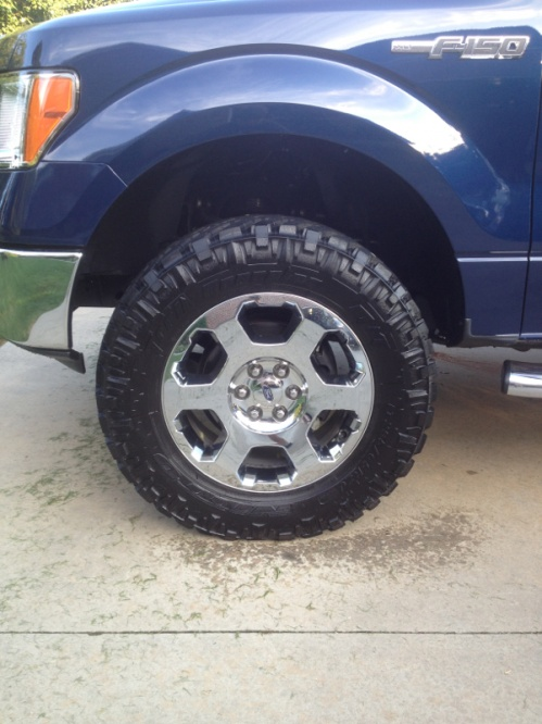Biggest Tires On Stock F150 20 Inch : biggest, tires, stock, Running, Bigger, Chrome-clad, Lariet, Forum, Community, Truck