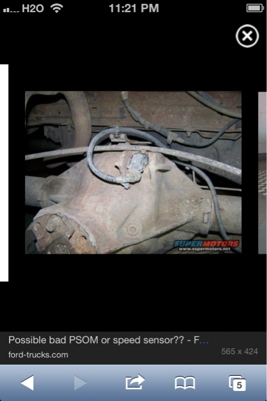 Location of the output speed sensor for a 2013 Ford F150 3