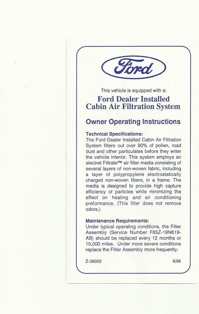 2010 Ford F150 Cabin Air Filter : cabin, filter, Interior, Cabin, Filter, Install, F150online, Forums
