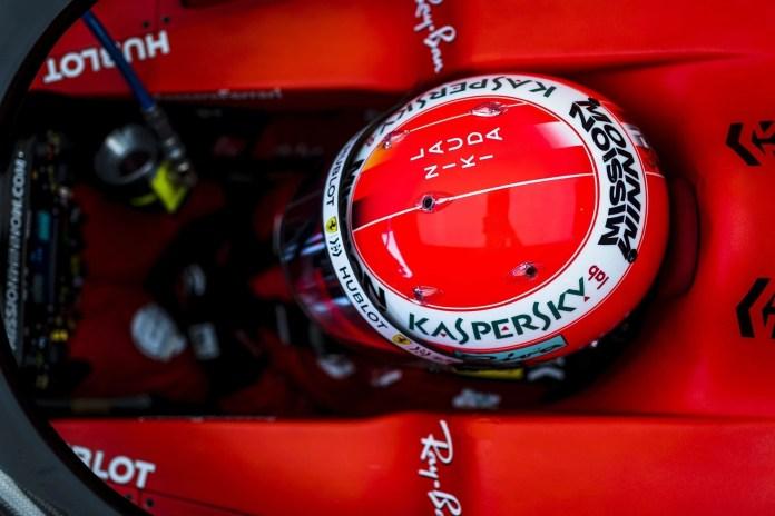 Niki Lauda tribute helmet as worn by Sebastian Vettel